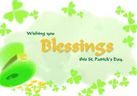 St Patricks Day Irish Blessing Ecard
