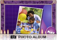 Photo Albums Birthday Balloons Ecard