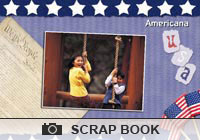 4th of July Americana Scrapbook Ecard