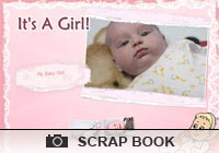 Photo Scrapbooks It's A Girl Ecard