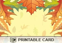 Thanksgiving Autumn Leaves Ecard