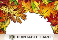 Thanksgiving Leaf Border Ecard