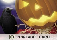 Halloween Jack and Crow Ecard