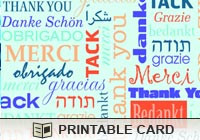 Printable Greeting Cards World Thank You Ecard