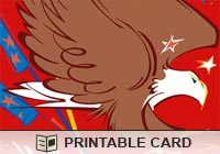 Celebrations Flag and Eagle Ecard