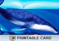 Printable Greeting Cards Blue Whales Ecard