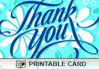 Printable Greeting Cards Flower Thank You Ecard