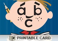 Children Study ABC Ecard