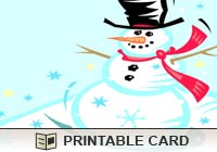 Seasons Chilly Snowman Ecard