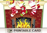 Christmas Cards Toasty Fireplace Ecard