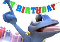 Birthday Ecards Gecko Dancing Ecard