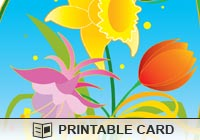 Printable Greeting Cards Spring Flowers Ecard