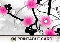 Printable Greeting Cards Pink Blossoms Ecard