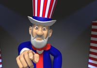 4th of July Uncle Sam Ecard
