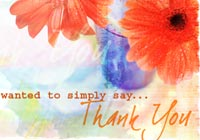 Thank You Cards Glass Flowers Ecard