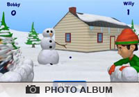 Photo Albums Snowball Fight Ecard