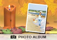 Seasons Autumn Candle Ecard