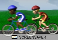3D Screensavers Bike Race Screen Saver