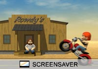 3D Screensavers Biker Girl Screen Saver