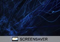 Abstract Blue Tentacles Screen Saver