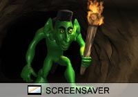 Science Fiction Cave Troll Screen Saver
