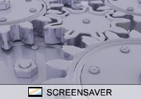 Abstract Chrome Gears Screen Saver