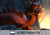 Science Fiction Fire Dragon Screen Saver
