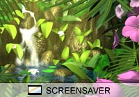 3D Screensavers Jungle Waterfall Screen Saver