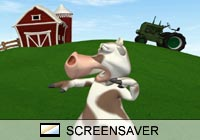 Cartoon Mad Cow Screen Saver