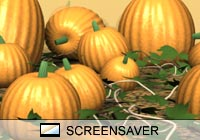 Nature Pumpkin Patch Screen Saver
