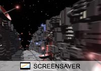 Science Fiction Tech Trench Screen Saver