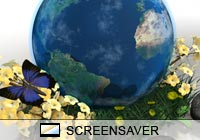 3D Screensavers Earth Butterfly Screen Saver