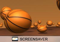 3D Screensavers Basketball Zoom Screen Saver
