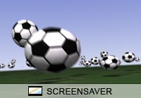 3D Screensavers Soccer Zoom Screen Saver
