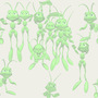 Animals and People Cricket Invasion Tiled Background
