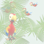 Nature Parrots in Flight Tiled Background