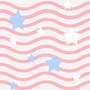 Holidays Stars and Stripes Tiled Background