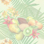 Nature Fruit and Flowers Tiled Background