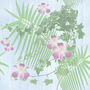Nature Orchid Palm And Ivy Tiled Background
