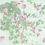Nature Pink Orchid with Ivy Tiled Background