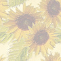 Nature Sunflowers on a Wall Tiled Background
