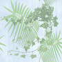 Tiled Backgrounds Palm and Ivy Plants Tiled Background